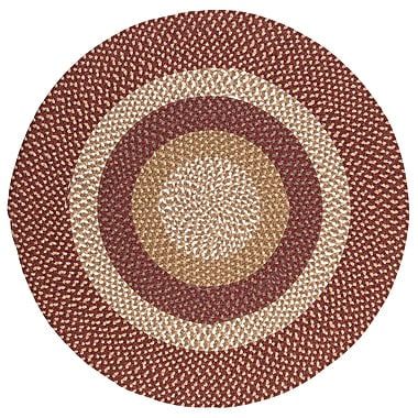 Colonial Mills Fabric Multi Red Area Rug; Round 12'