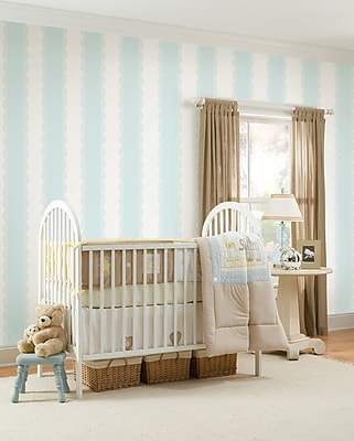 Brewster Home Fashions WallPops for Baby Stripes Wall Mural; Blue