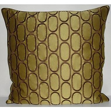 Edie Inc. Oval Pod Embroidery Throw Pillow; Dijon
