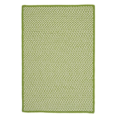 Colonial Mills Outdoor Houndstooth Tweed Lime Area Rug; Rectangle 2' x 4'
