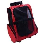 Pawhut Deluxe Travel Pet Carrier; Red
