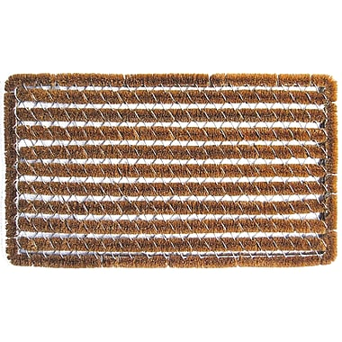 Entryways Stripes Wire Brush Boot Scraper; Rectangle 1'4'' x 2'5''