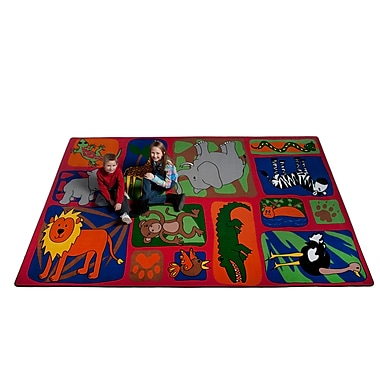Kid Carpet My Buddies in The Jungle Area Rug; 4' x 6'