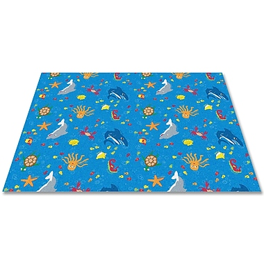 Kid Carpet Ocean Friends Area Rug; Rectangle 12' x 15'