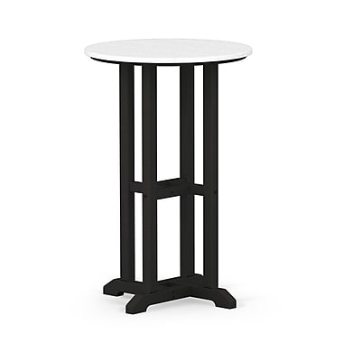POLYWOOD Contempo Dining Table; Black / White