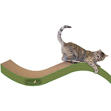 Imperial Cat Scratch 'n Shapes Giant Purrfect Stretch Recycled Paper Scratching Board; Peacock