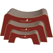 Imperial Cat Scratch 'n Shapes Scratch and Snooze Recycled Paper Scratching Board; Victorian Red
