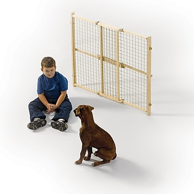 Midwest Homes For Pets Wood Wire Mesh Pet Gate; 32''
