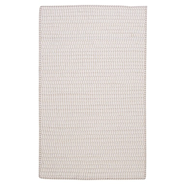 Colonial Mills Ticking Stripe Rect Canvas White Area Rug; Rectangle 2' x 4'