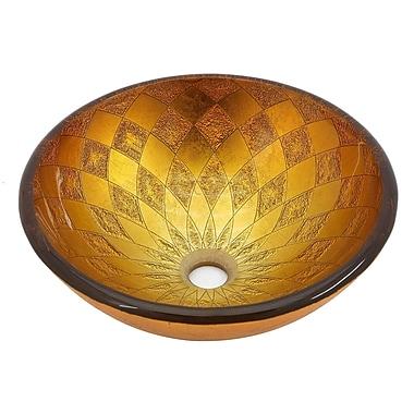 Kraus Orion Glass Circular Vessel Bathroom Sink