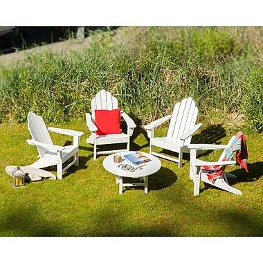 POLYWOOD Long Island Conversation Adirondack 5 Piece Seating Group