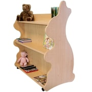 Ace Baby Furniture Rabbit Mobile Double Sided 41.5'' Bookcase; Natural Maple