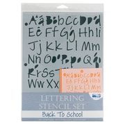 Alvin and Co. Back to School Lettering Stencil Set