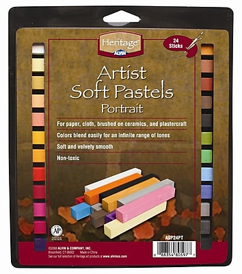 Alvin and Co. Portrait Soft Pastels Set (Set of 24) WYF078276328244