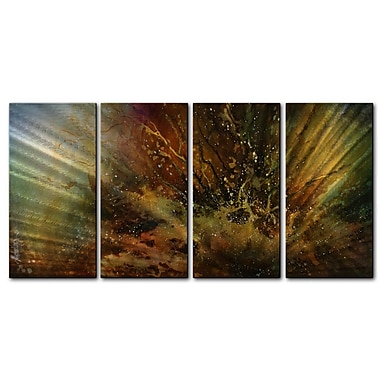 All My Walls 'Eruption' by Michael Lang 4 Piece Graphic Art Plaque Set