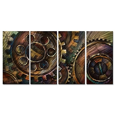 All My Walls 'Methodical' by Michael Lang 4 Piece Graphic Art Plaque Set