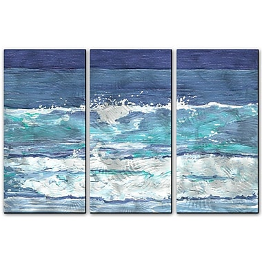 All My Walls 'Soothing Surf' by Keith Wilke 3 Piece Painting Print Plaque Set