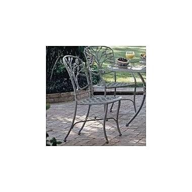 Woodard Heritage Patio Dining Chair; Graphite