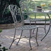 Woodard Heritage Patio Dining Chair; Graphite