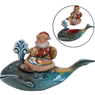 G Debrekht Derevo Santa on Whale Box
