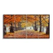 Stupell Industries A Walk Through the Autumn Trees 4 Piece Canvas Wall Art Set