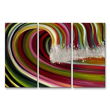All My Walls 'Tsunami Surreal' by Jerry Clovis 3 Piece Graphic Art Plaque Set