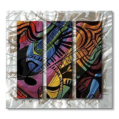 All My Walls 'Guitar Crush' by Jerry Clovis 3 Piece Graphic Art Plaque Set