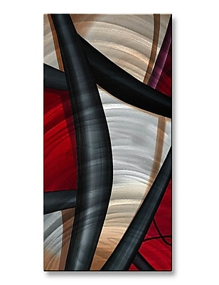All My Walls 'Wow and Red 2' by Jerry Clovis Graphic Art Plaque