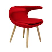 Ceets Clipper Lounge Chair; Red