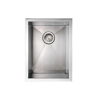 Whitehaus Collection Noah's 15'' x 20'' Commercial Single Bowl Undermount Kitchen Sink