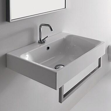 WS Bath Collections Kerasan Cento 23.6'' Wall Mount Bathroom Sink w/ Overflow