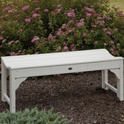 POLYWOOD  Traditional Plastic Garden Bench; White