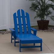 POLYWOOD  Long Island Chaise Lounge; Pacific Blue
