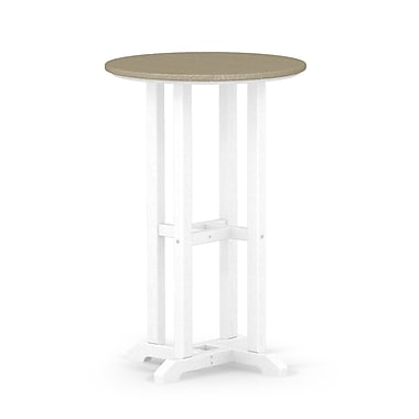 POLYWOOD Contempo Dining Table; White / Sand
