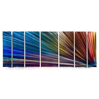 All My Walls 'Rainbow Abstract' by Ash Carl Designs 7 Piece Graphic Art Plaque Set