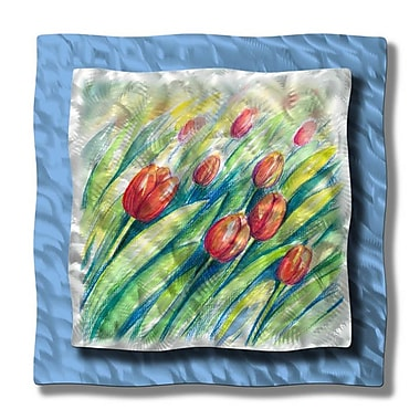 All My Walls 'Swaying Tulips' by Ash Carl Graphic Art Plaque