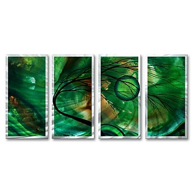 All My Walls 'Emerald Glow' by Megan Duncanson 4 Piece Graphic Art Plaque Set