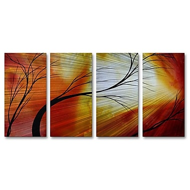 All My Walls 'Lollipop Land' by Megan Duncanson 4 Piece Graphic Art Plaque Set