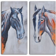 My Art Outlet Colt and Mare' 2 Piece Painting on Wrapped Canvas Set