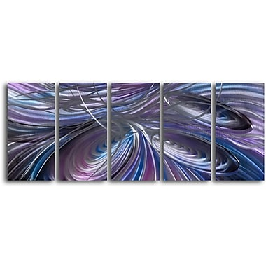 My Art Outlet 'Tripple Cyclone' 5 Piece Graphic Art Plaque Set
