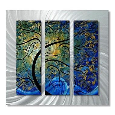 All My Walls 'Indigo Evolution' by Megan Duncanson 3 Piece Graphic Art Plaque Set