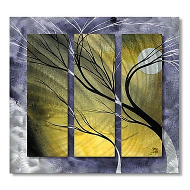 All My Walls 'Moonlight' by Megan Duncanson 3 Piece Graphic Art Plaque Set