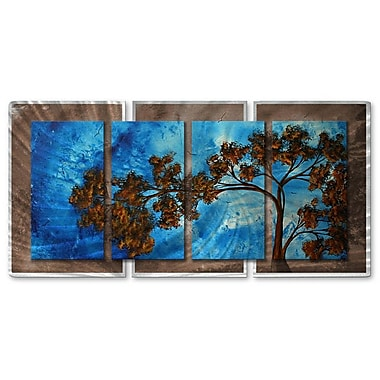 All My Walls 'To The Sky' by Megan Duncanson 4 Piece Painting Print Plaque Set