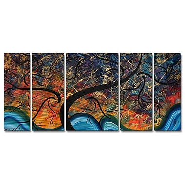 All My Walls 'Brilliant Branches' by Megan Duncanson 5 Piece Painting Print Plaque Set