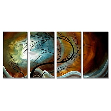 All My Walls 'Midnight Wind' by Megan Duncanson 4 Piece Painting Print Plaque Set