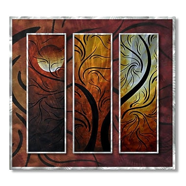 All My Walls 'Mellow Moon' by Megan Duncanson 3 Piece Painting Print Plaque Set