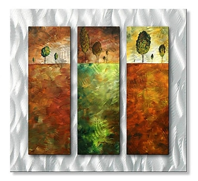All My Walls 'In The Distance' by Megan Duncanson 3 Piece Graphic Art Plaque Set