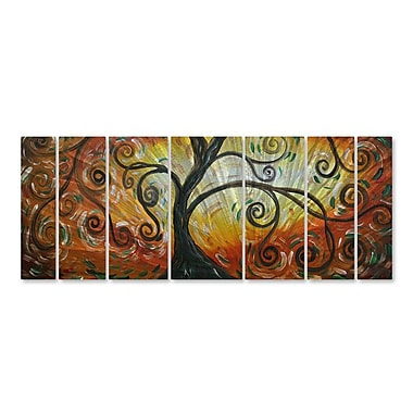 All My Walls 'The Blooming Tree' by Megan Duncanson 7 Piece Graphic Art Plaque Set