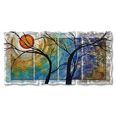 All My Walls 'Radiant Joy II' by Megan Duncanson 4 Piece Painting Print Plaque Set