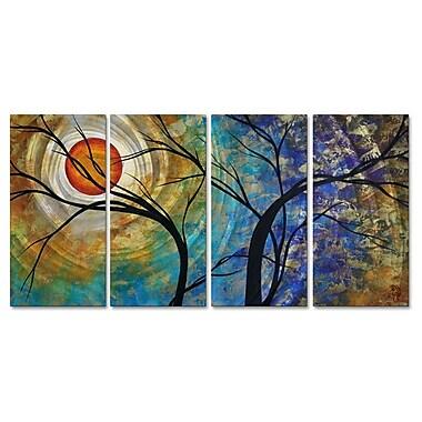 All My Walls 'Radiant Joy' by Megan Duncanson 4 Piece Painting Print Plaque Set